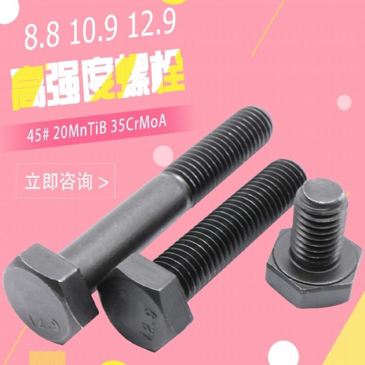 厂家直销 外六角螺栓 单头螺栓 螺丝钉 国标高强螺栓