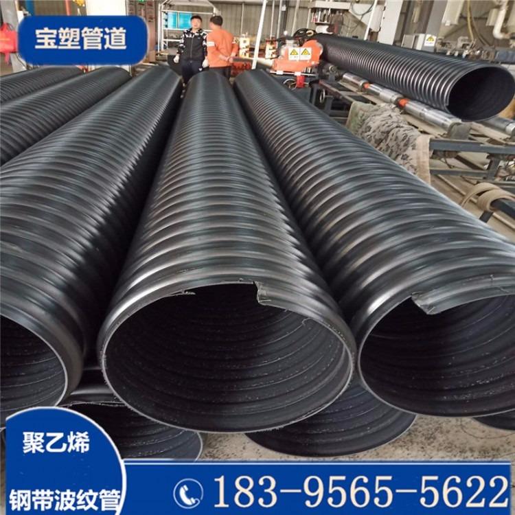 钢带增强螺旋波纹管、钢带增强螺旋波纹管、欣腾达钢带波纹管