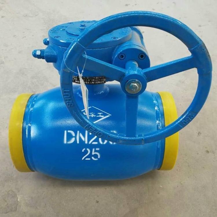 三科阀门厂家供应Q361F涡轮全焊接球阀、全焊接球阀、涡轮接球阀