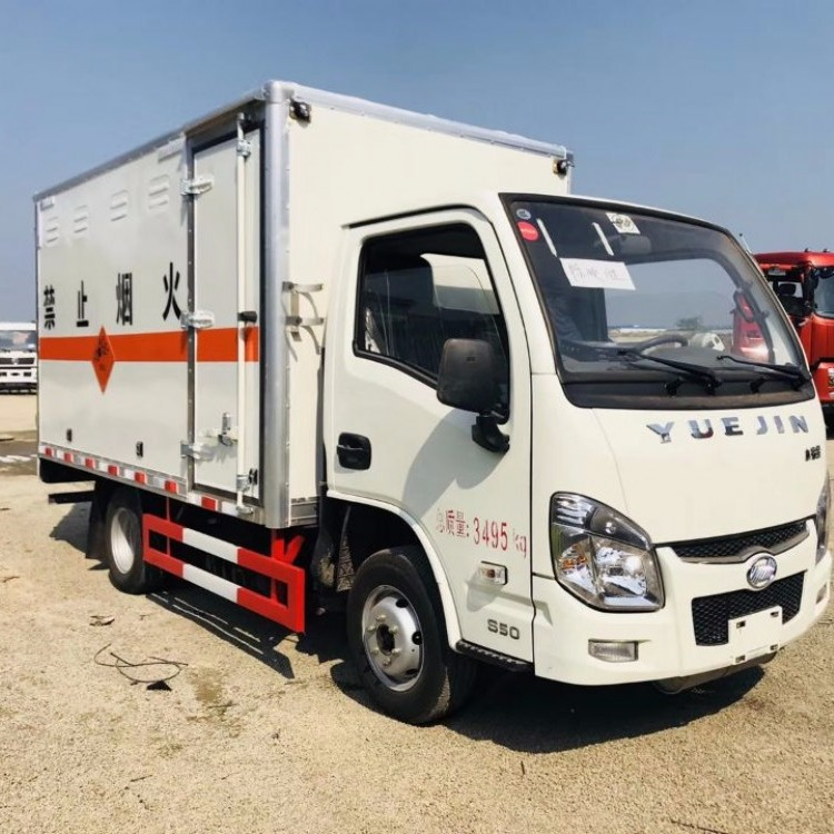 跃进额定载质量1.5吨易燃气体厢式运输车价格