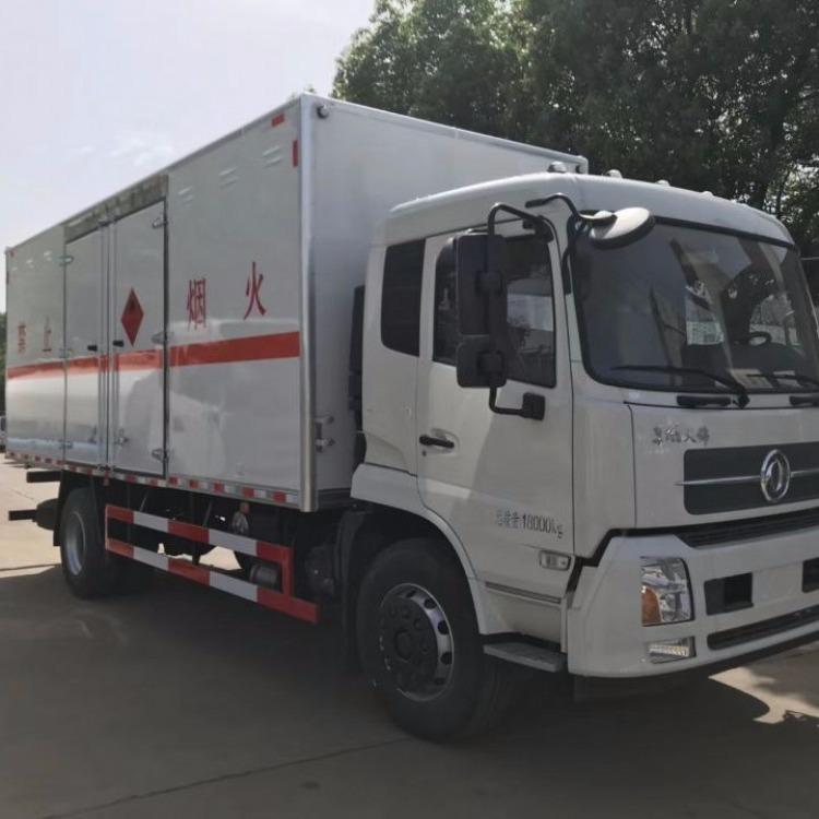 东风天锦JDF5160XRQDFH5型易燃气体厢式运输车  黄牌9吨超好用