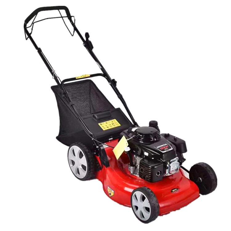 批量生产手推式草坪机 汽油四轮割草机 小型割草机生产厂家