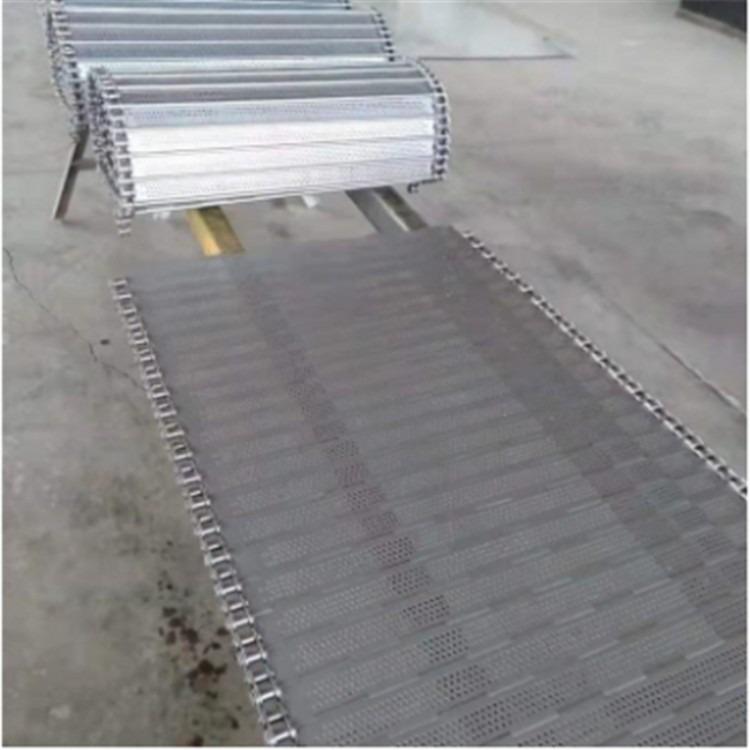 不锈钢输送链板 链板输送带 清洗机链板