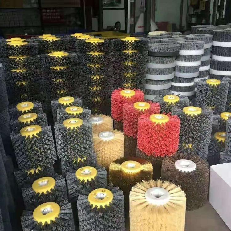 直销圆盘工业毛刷 尼龙钢丝圆盘刷 抛光圆盘刷 可按要求定制