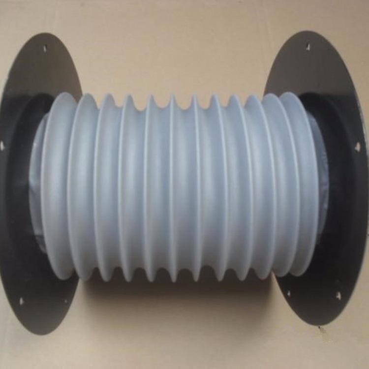 圆形自动伸缩式防护罩   PVC法兰  钢丝圈支撑的丝杠防护罩