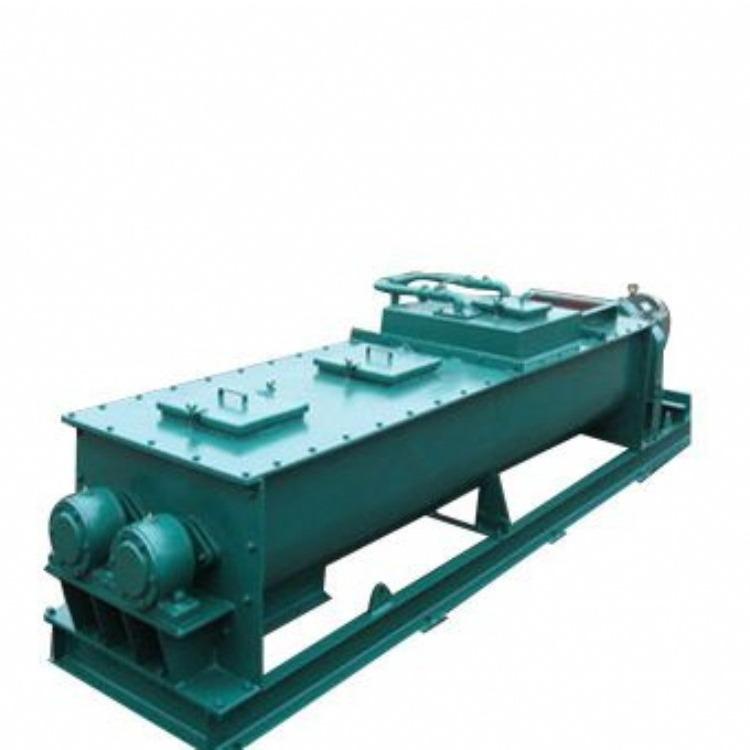 卧式干粉搅拌机 水泥螺旋加湿搅拌机 加湿搅拌机型号参数
