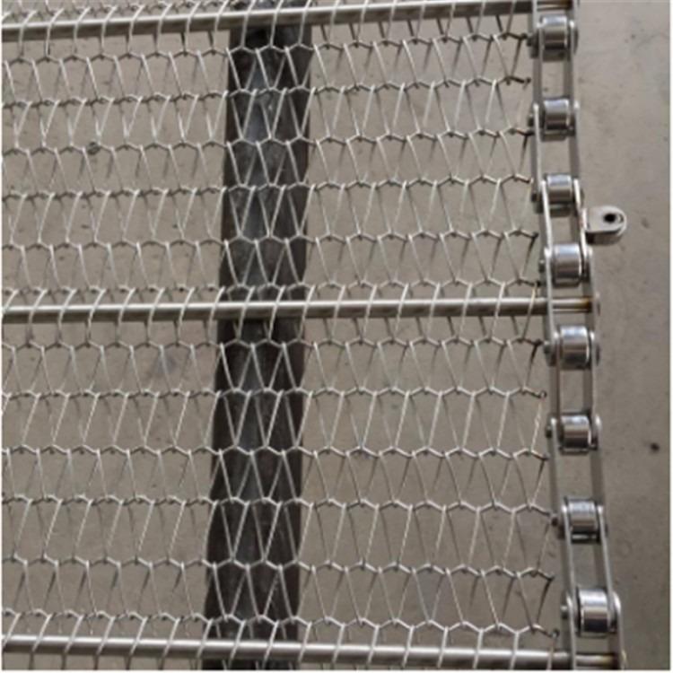 高强度耐高温金属网带 不锈钢人字形网带 强硬度高金属螺旋网带厂家直销