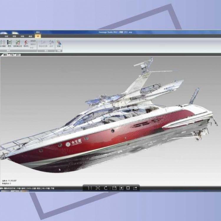 昆山千灯镇行展科技三维激光扫描仪对船体三维扫描项目