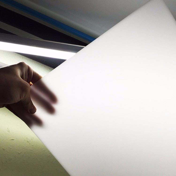 灯白色灯光亚克力板乳白瓷白象牙白有机玻璃板塑料板2mm2.5mm3mm