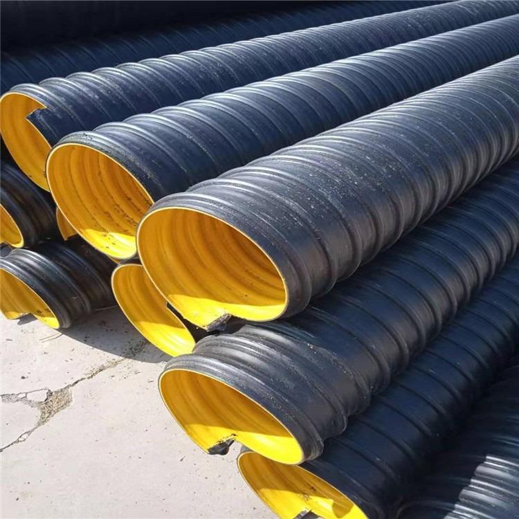 大口径钢带增强螺旋波纹管 HDPE1000钢带增强螺旋波纹管