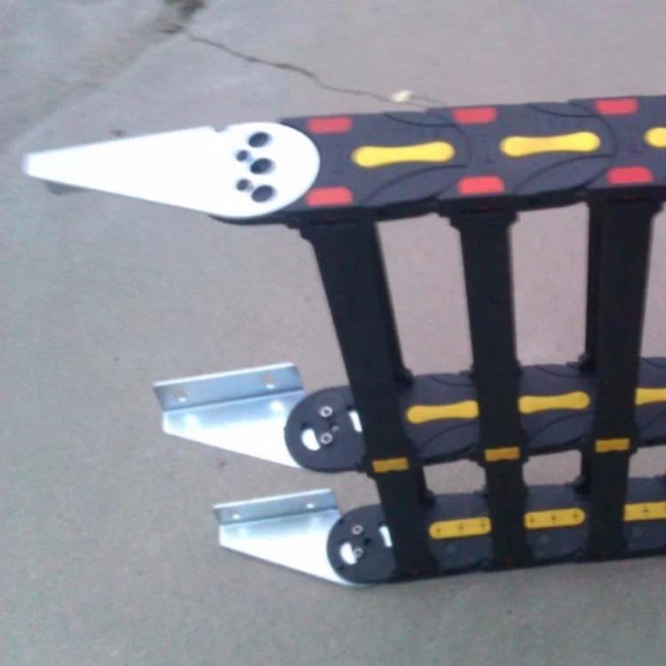 工程塑料拖链  铁接头   铁横梁尼龙拖链