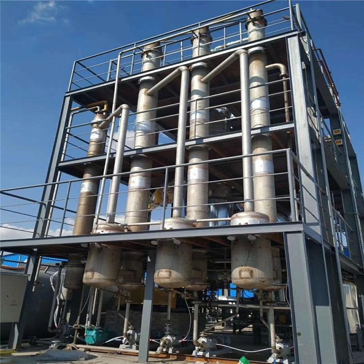鑫福二手蒸发器 二手降膜蒸发器 316降膜蒸发器价格 双效蒸发器 浓缩蒸发器 4吨降膜蒸发器