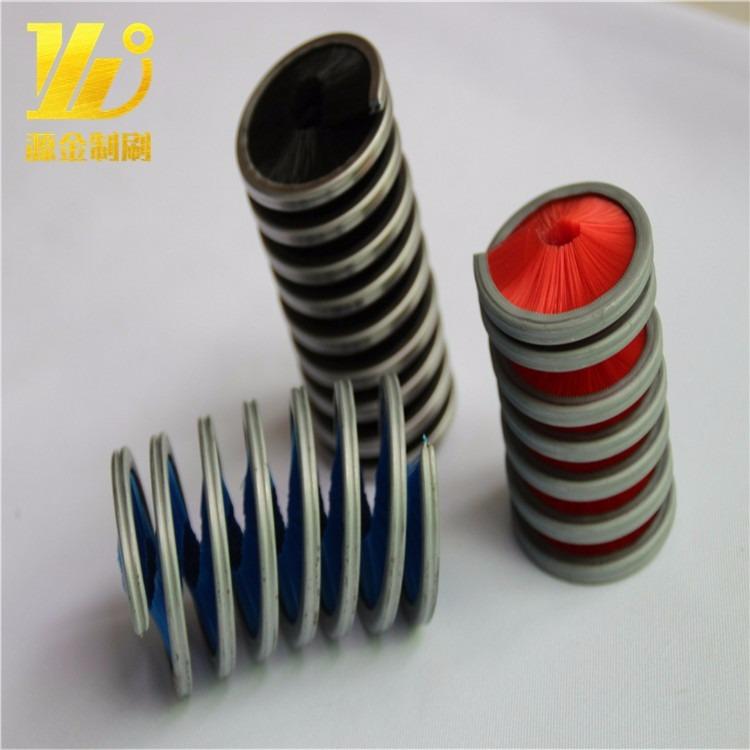 厂家直销圆形弹簧刷密封弹簧刷磨料丝弹簧刷定制除尘尼龙丝弹簧刷
