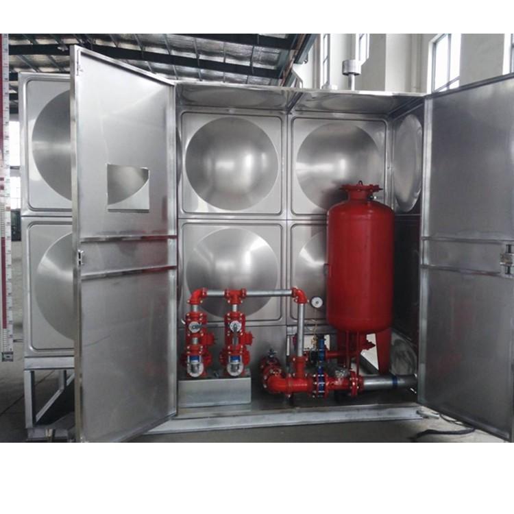 盛达龙源 不锈钢水箱 圆形不锈钢玻璃钢水箱 不锈钢水箱生产厂家 批发订购