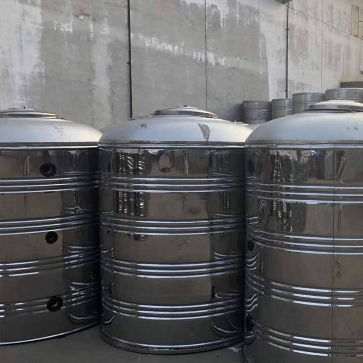盛达龙源 不锈钢水箱 圆形不锈钢玻璃钢水箱 不锈钢水箱安装视频 使用寿命长