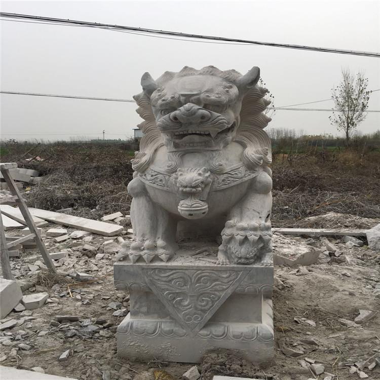 石材批发青石狮子汉白玉狮子汉白玉石雕石狮子