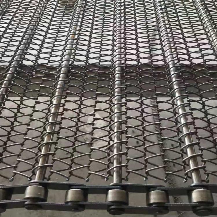 纸制品烘干镀锌铁丝金属网输送带 金属件淬火炉耐高温网链传送带