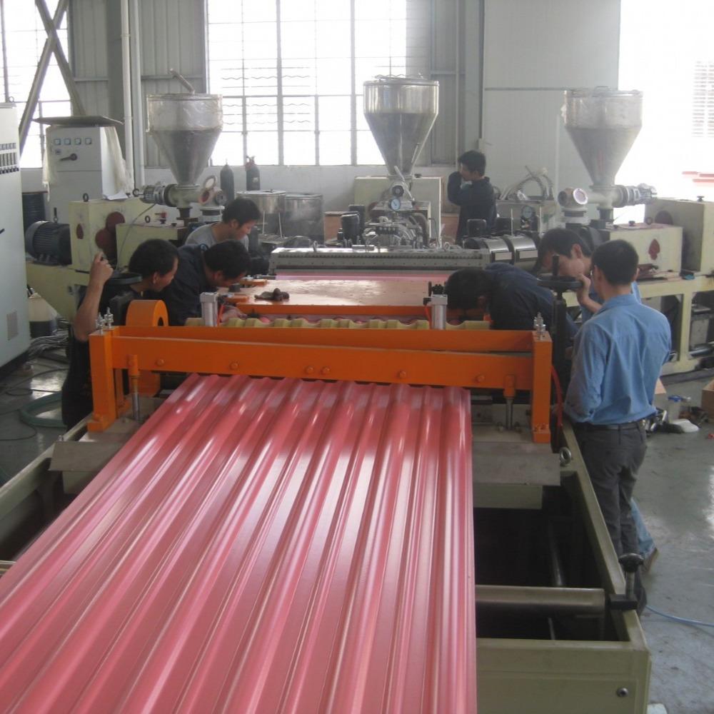 PVC隔热瓦楞板挤出生产线