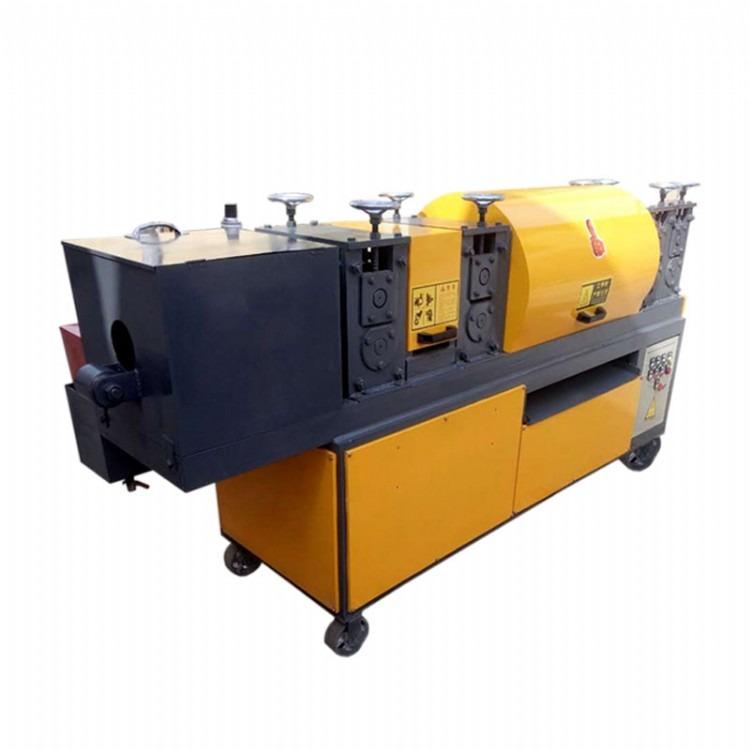 腾硕机械供应 全自动钢管调直机 6轮建筑钢管调直机 钢管调直刷漆机一年保修