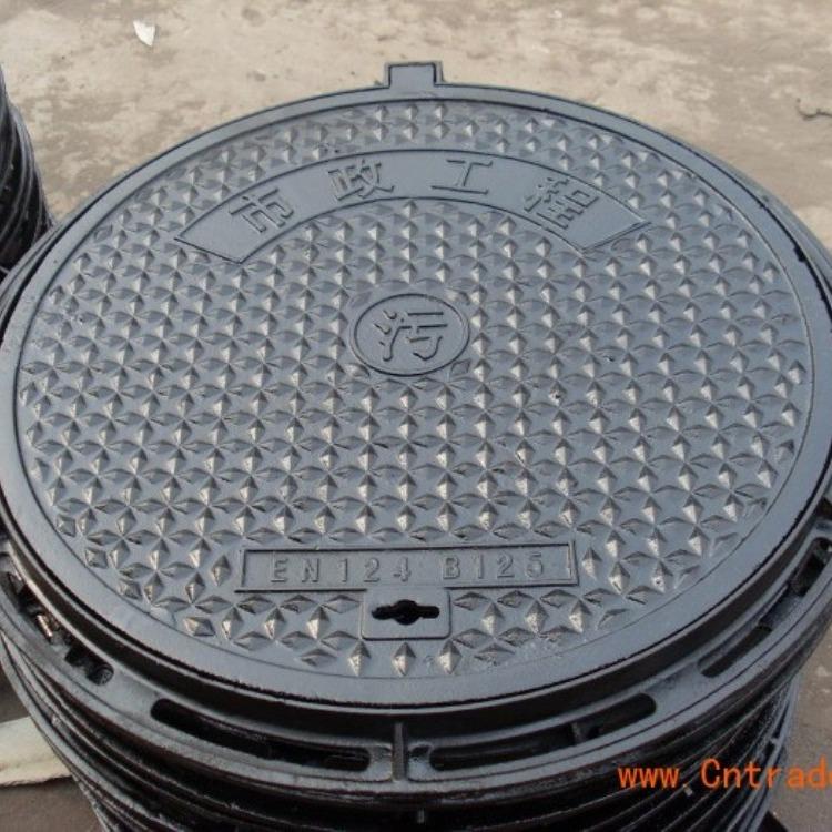 厂家铸铁 井盖600*700污水消防排水铁井盖 圆形井盖支持来图加工定制