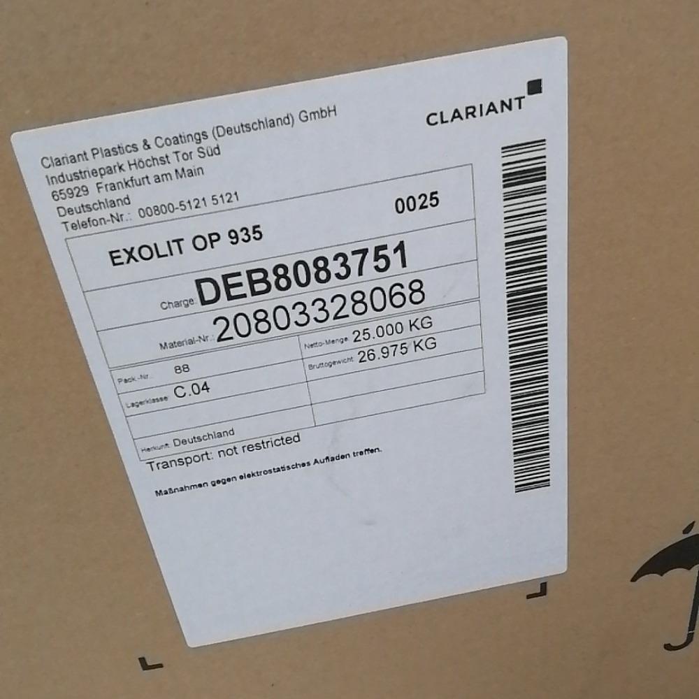 代理德国科莱恩OP935涂料薄膜胶黏剂无卤阻燃剂