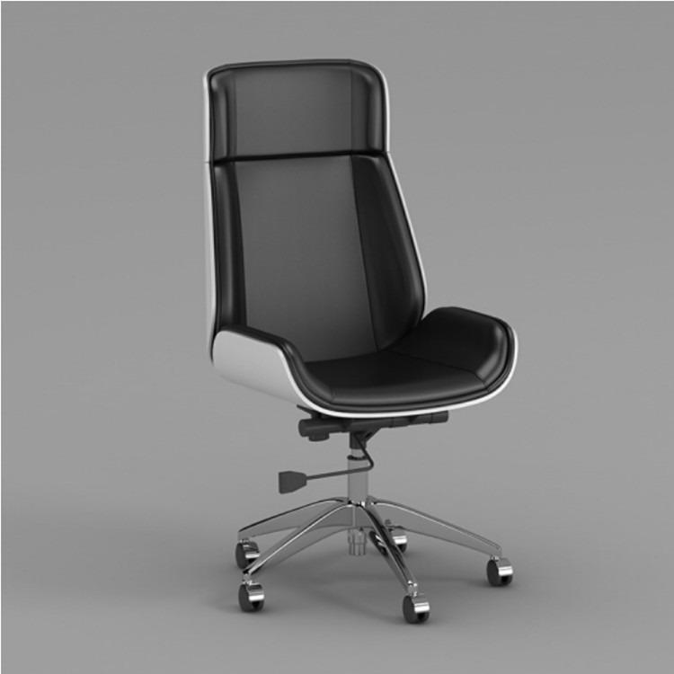 厂家直销电脑椅 家用黑色真皮座椅老板椅办公书房转椅旋转升降椅