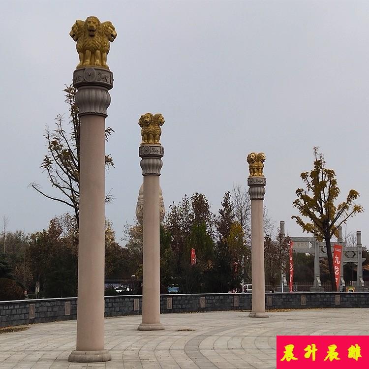 辽宁广场图腾柱雕刻