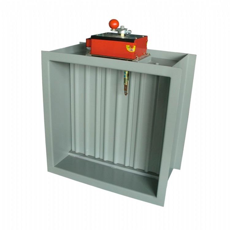 启特厂家消防通风排烟  风量调节阀3c认证防火阀70度手动常开闭电动风量调节阀方圆