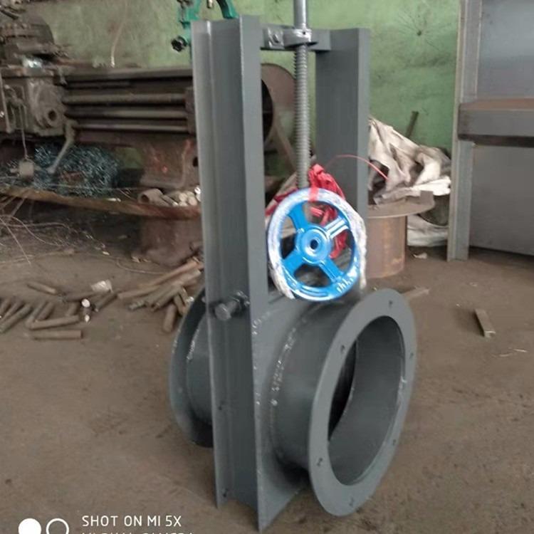 手动插板阀排水阀圆形电动插板阀鱼塘污水闸板阀除尘卸灰阀卸料阀