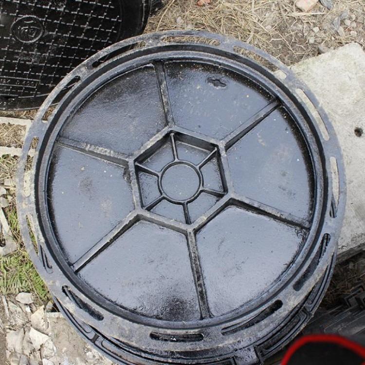 厂家 定制 铸铁球墨井盖 双层圆形井盖雨水篦子  球墨铸铁井盖