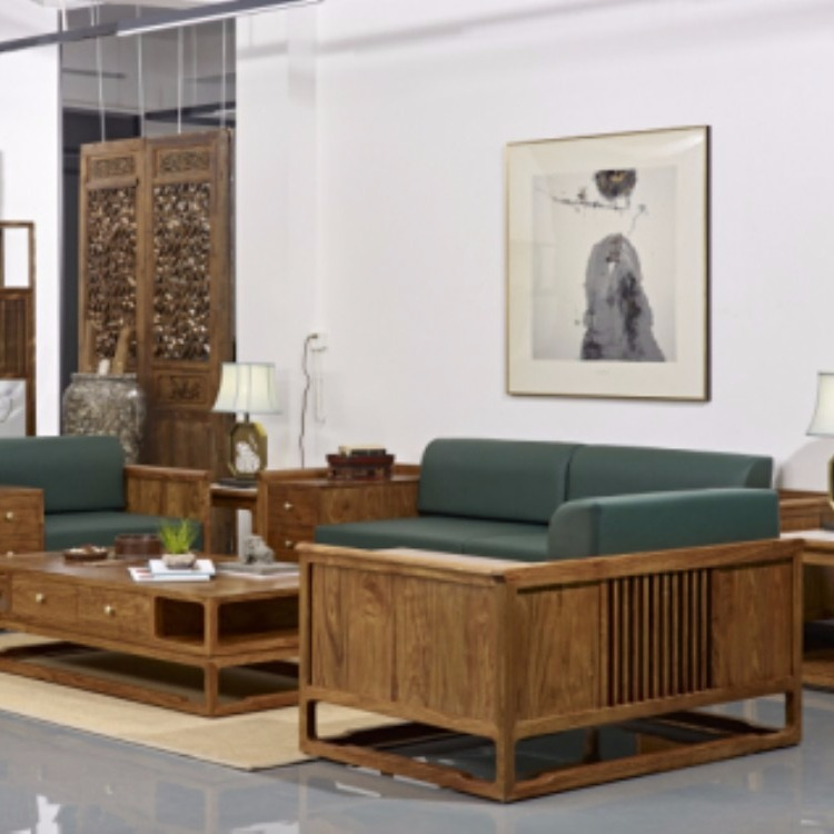 协艺家具 布艺沙发 实木家具 花梨木客厅沙发深圳定制厂家自在工坊