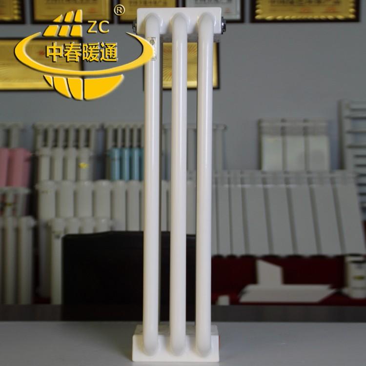 暖通设备材料建设项目专用厚壁钢制弯管三柱型散热器GGZ303实力厂家