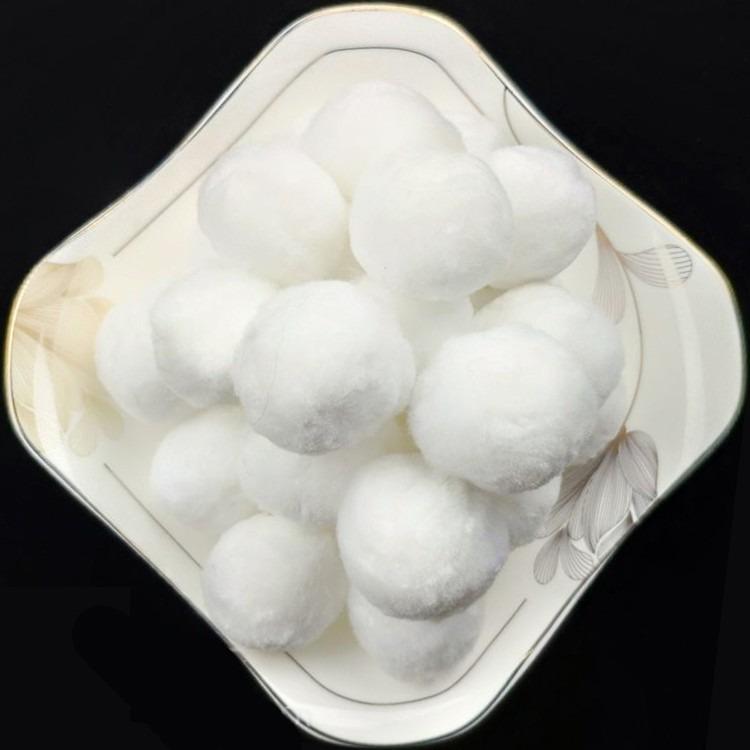 厂家直供直径30 40 50mm纤维球 耐酸碱耐腐蚀耐高温过滤棉球 培菌过滤环保材料