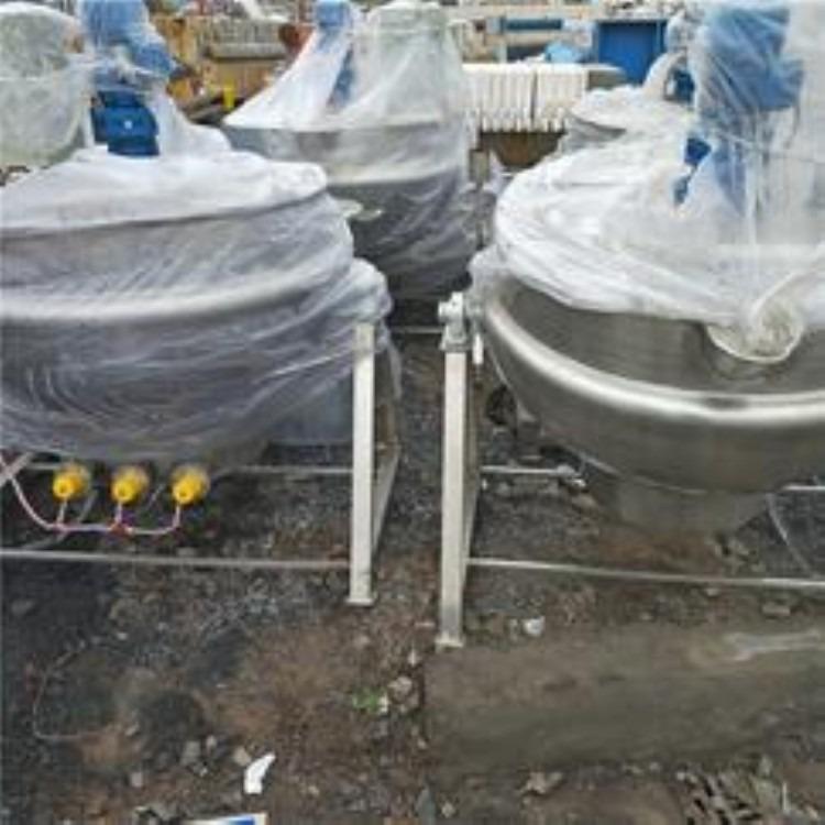 供应二手600L电加热化糖锅 不锈钢熬糖锅 熔糖罐 电加热夹层锅