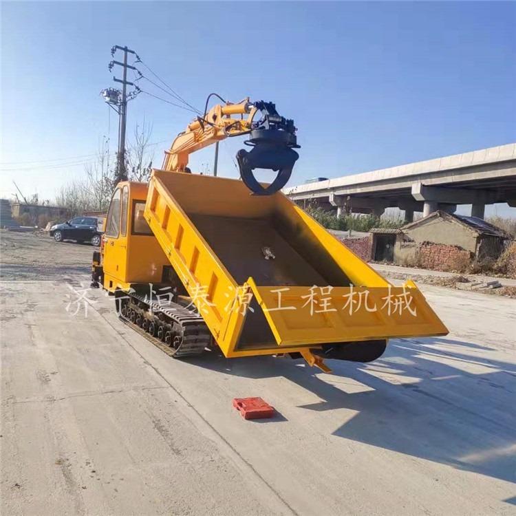 农用履带挖掘抓木机小型随车挖掘机 360度旋转抓木机山东厂家直销