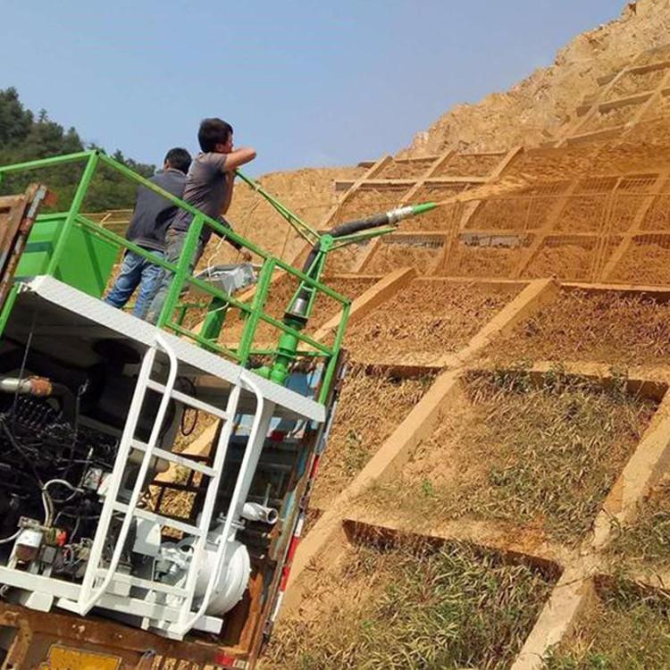 农业客土喷播机特点播种机新疆吐鲁番工程用客土喷播机喷播脉动小