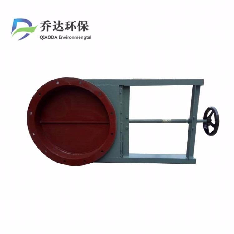 全密封圆口方口手动插板阀 碳钢焊接插板阀 污水管道手动插板阀