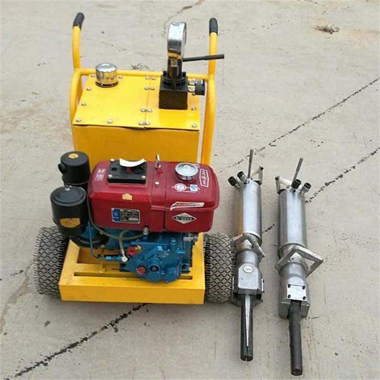 悍博直供电动劈裂机 电动液压岩石劈裂机 矿山开山劈石机器