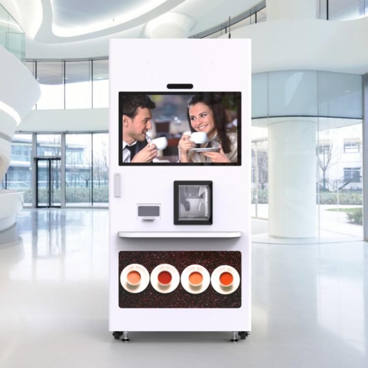杭州以勒自动现磨咖啡机308F商用咖啡机