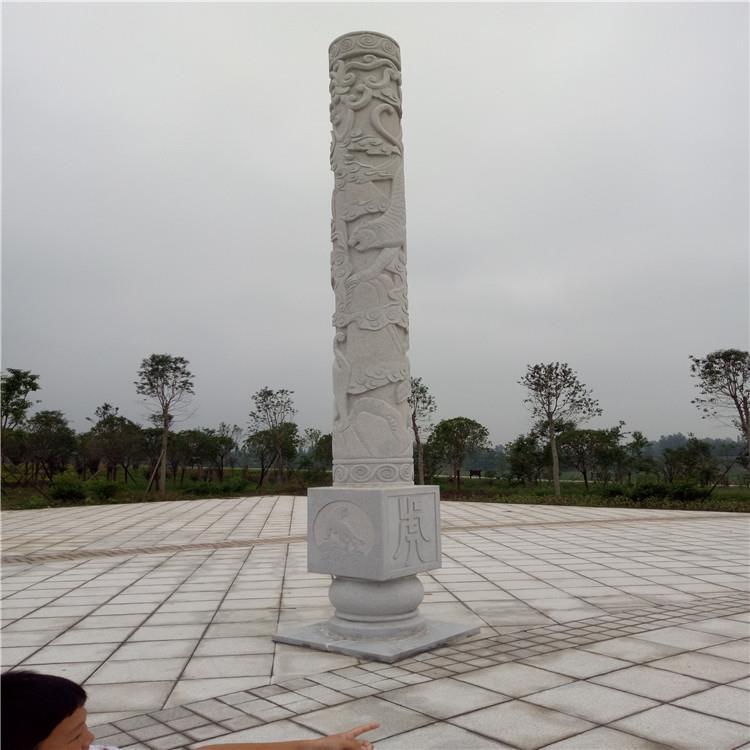 口碑商家 盘龙柱 青石龙柱 仿古石雕文化柱