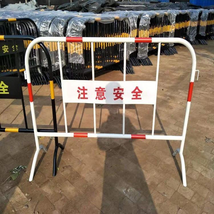 基坑围栏  建筑工地临边护栏网  黑黄铁马护栏厂家   工成丝网