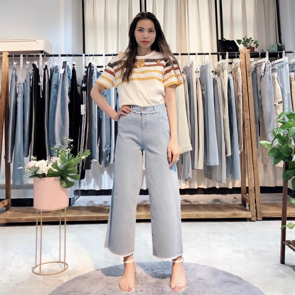 布歌玛2020年春季宽松大码女式休闲裤