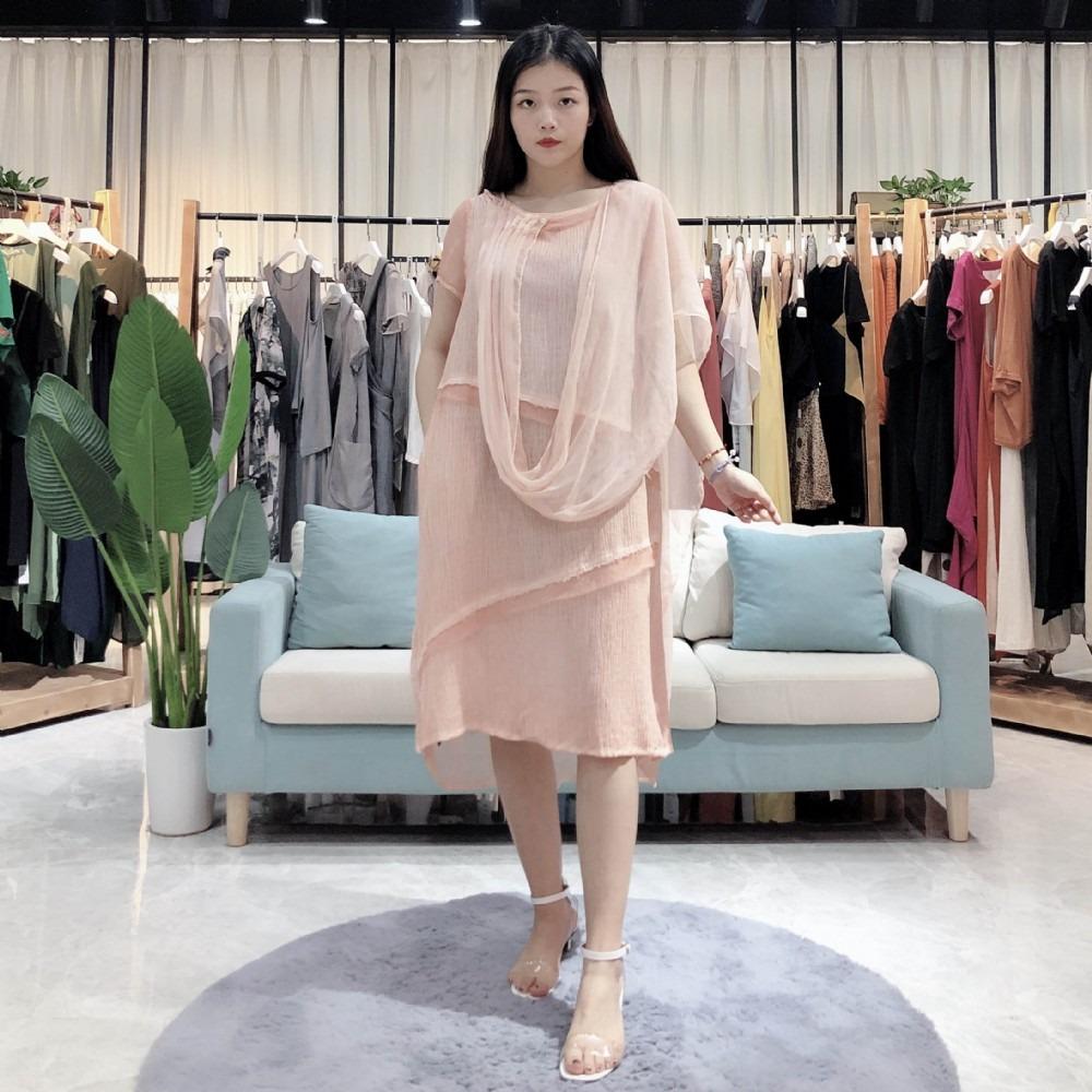 吉妮.SR 2020年春季新款女装外贸欧美连衣裙