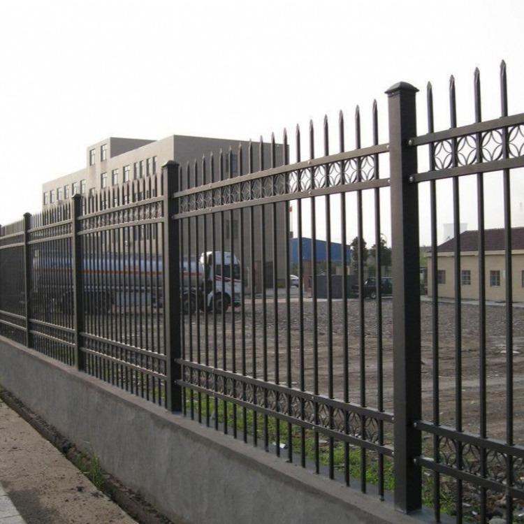 厂房锌钢护栏弯头铁艺围栏小区围墙 别墅锌钢隔离防护栏