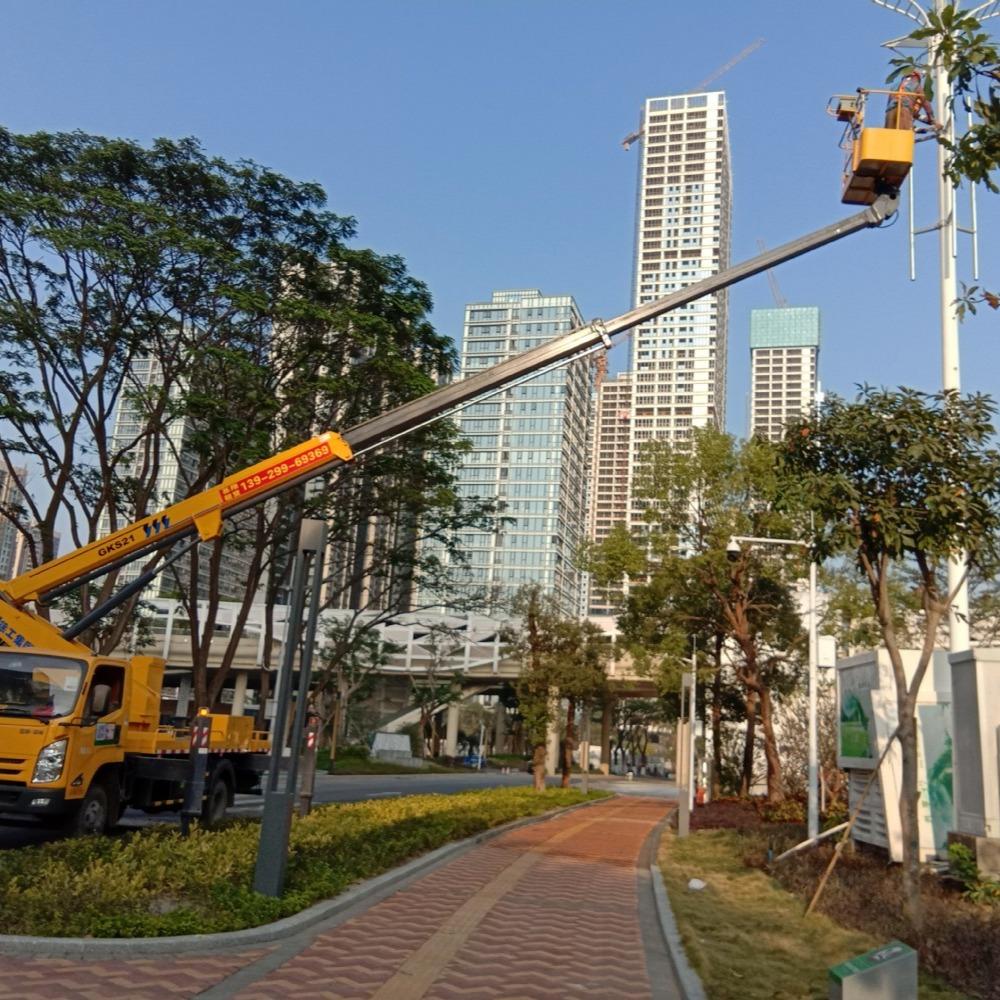 中山高空车出租 基翔机械 出租高空车 工程修补 清洁 挂灯笼都用