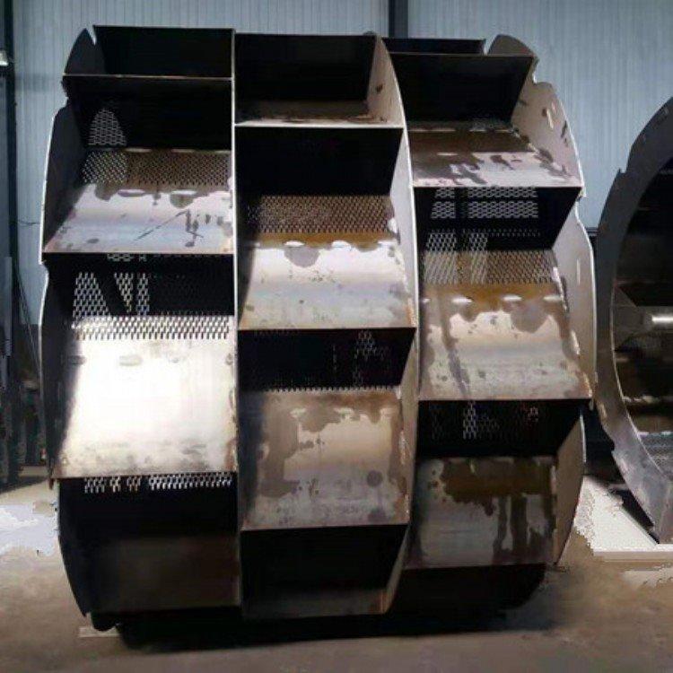 制沙洗沙机设备 水轮式洗砂机 轮斗式洗砂机 三排槽水轮 脱水筛 1.5米细沙回收机