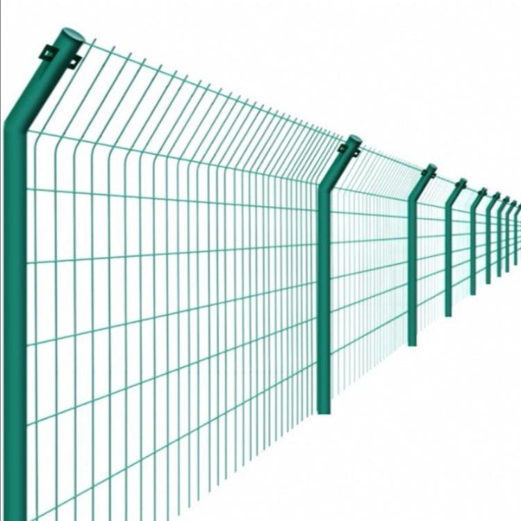 厂家直销围栏网 可定制双边丝护栏网 绿色园艺围栏网框架 公路护栏铁丝网