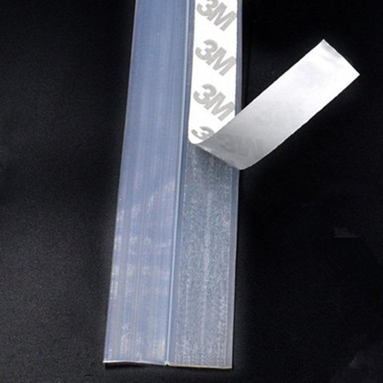 厂家直销硅胶门窗密封条玻璃门缝防风防尘自粘型胶条多功能门底条