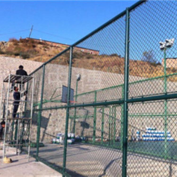 学校篮球场护栏网,绿色包塑铁丝篮球场护栏网