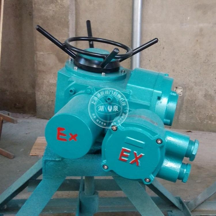 上海湖泉 电子式DZW45电动执行器 ZB45隔爆阀门电动装置